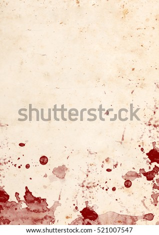 Weathered paper with blood stains