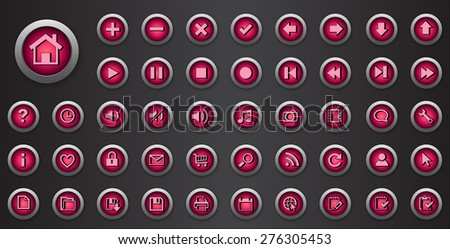 Web buttons set