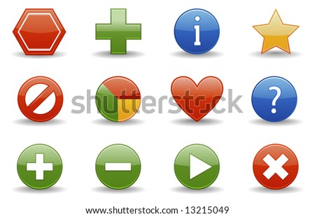 Web icons | Glossy series part 1. Vector also available.