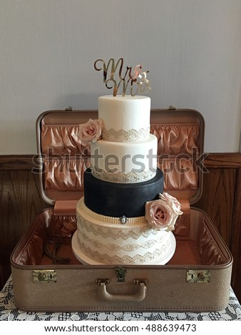 wedding cake pink fondant roses burlap stock photo 377754169 shutterstock. Black Bedroom Furniture Sets. Home Design Ideas