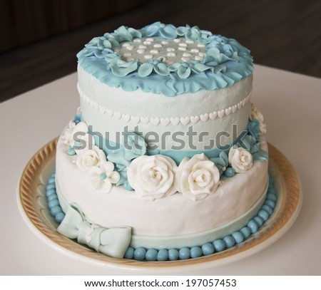 Wedding Cake Rosette Couple Cutting