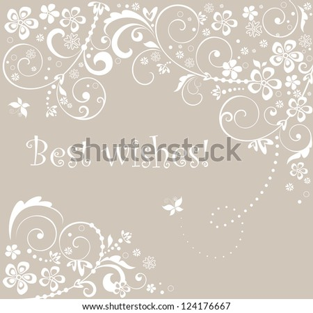 Wedding card. Raster copy of vector image