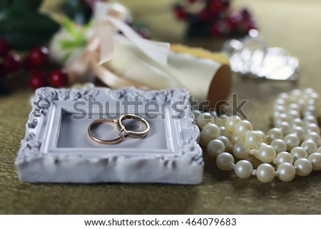wedding ring background invitation