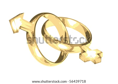 wedding rings as symbol of mars and venus