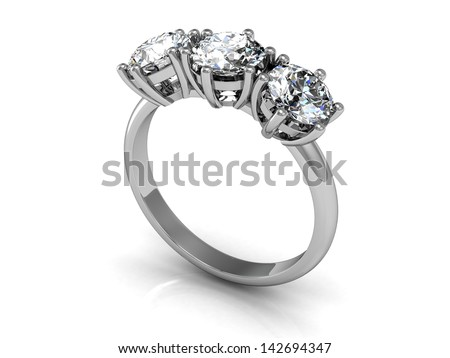 wedding rings (high resolution 3D image)