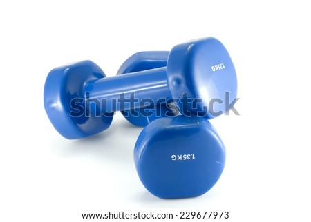 Weights fitness isolated on white backgrounds