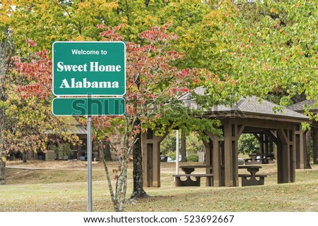 Welcome Sign For Sweet Home Alabama