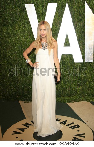 WEST HOLLYWOOD, CA - FEB 26: Rachel Zoe at the Vanity Fair Oscar Party at Sunset Tower on February 26, 2012 in West Hollywood, California.