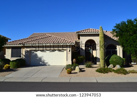 Western ranch style house stock photo for Western ranch style homes