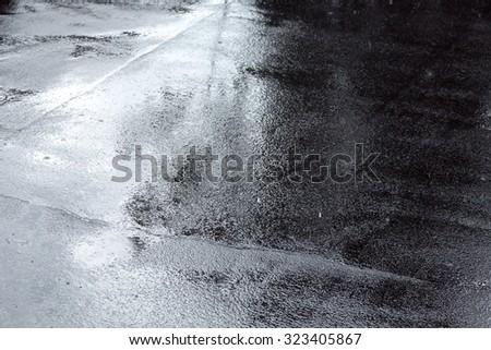 Rainy Weather On City Street Stock Photo 113186152
