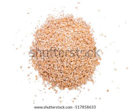 Wheat cereal on white background.