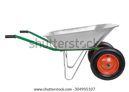 wheelbarrow isolated on a white background.