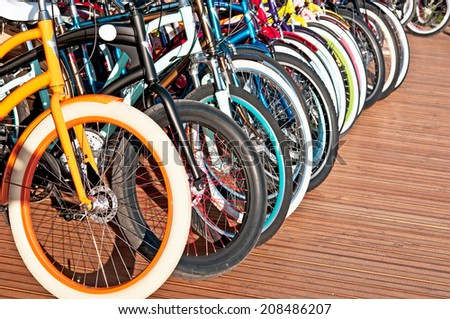 Wheels of bicycles