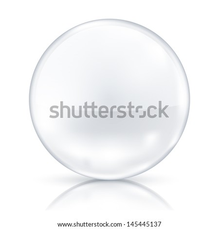 White badge isolated on mirror floor. See also vector version