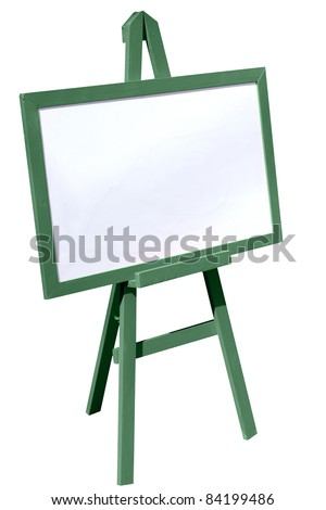 White boards to write messages or draw publicity