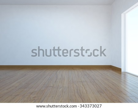 white empty room. Interior background. 3d illustration.