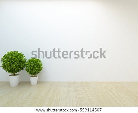 white empty room with a plant living room interior scandinavian interior design 3d
