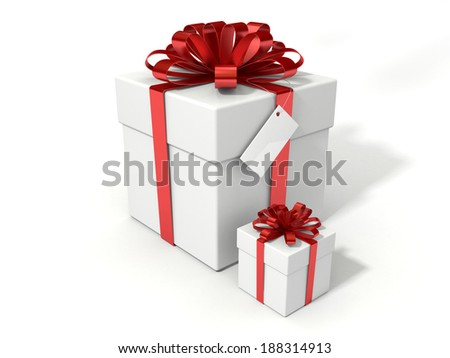 White gift with ribbon