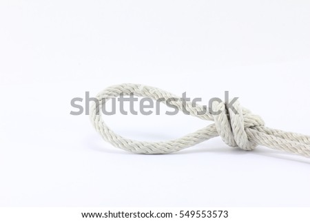 white in A Knot Isolated on White Background.