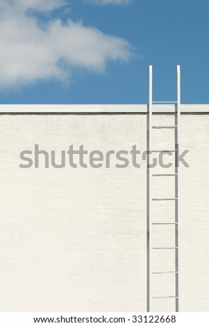 White ladder to the blue sky
