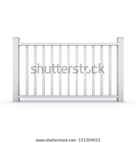White metal railing