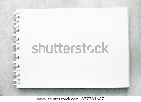 White notepad on the table
