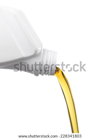 White Oil can pouring