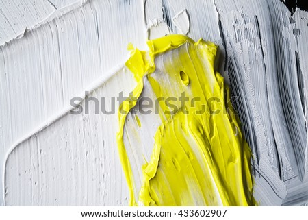 white paint, white and yellow background