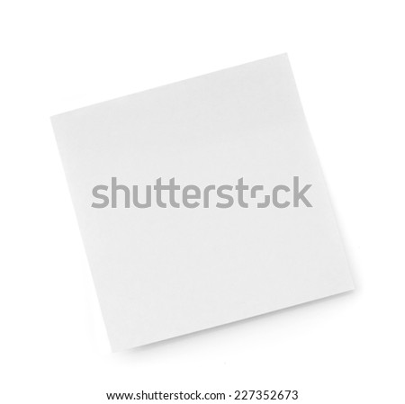 white paper sticker isolated on a white background