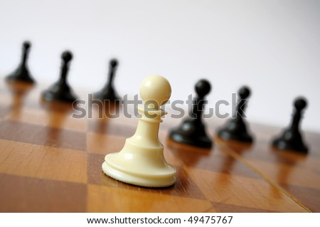 White Pawn Chess. Office Leader Concept.