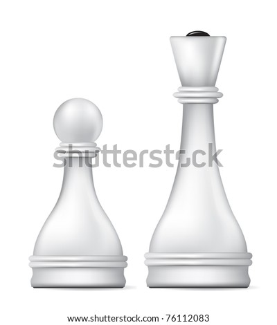 white queen and pawn