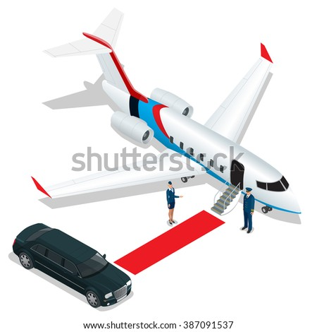 White Reactive Private Jet White Privatejet Stock Vector