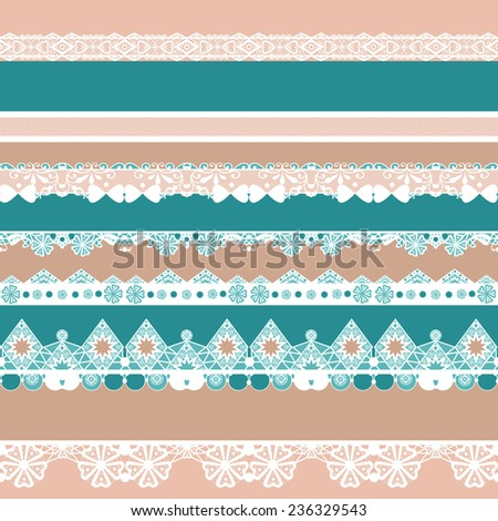 White seamless lace ribbon pattern texture textile background