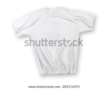 White shirt isolated on white with shadow