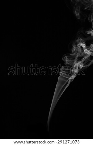 White smoke on black background, abstract