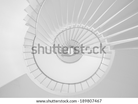 White Spiral stair is so tall ass business is not easy but can be successful. Business concept