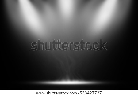 White spotlight smoke effect background.