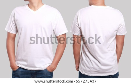 White polo tshirt mock up front stock photo 661704589 for T shirt mockup front and back