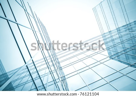 white texture of glass transparent skyscrapers at night