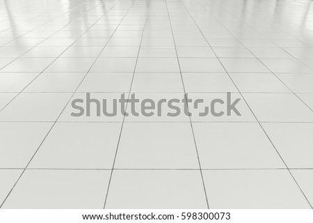 white tile floor. White tile floor clean condition with grid line for background  Tile Floor Clean Condition Grid Stock Photo 551614516