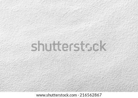 White wheat flour looks like snow for background. Top view
