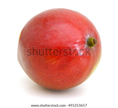 whole mango fruits on white background