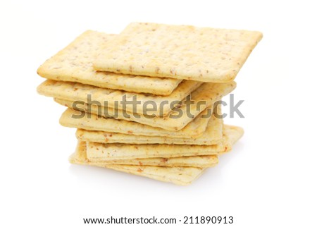 Whole wheat flour crackers