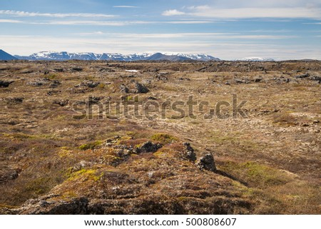 wide landscape in iceland