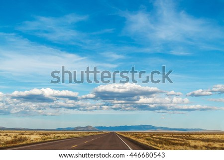 Wide open spaces and big sky of New Mexico, USA