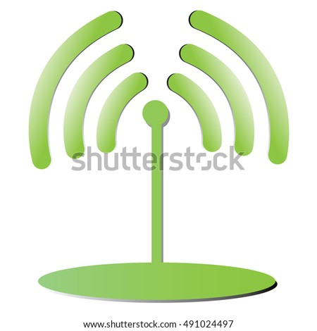 Wifi Illustration isolated on a white background