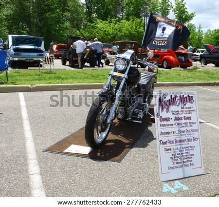 WILLIAMSBURG, VA - May 9, 2015: A 1983 Harley Davidson Night Mare at the 6th Annual Project Lifesaver Car Show in Williamsburg Virginia on a summer day.