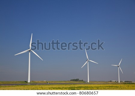 Wind turbine producing alternative energy in The Netherlands