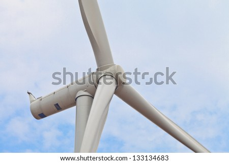 Wind Turbine with blue sky