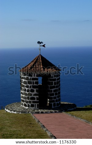 windmill in azores, portugal